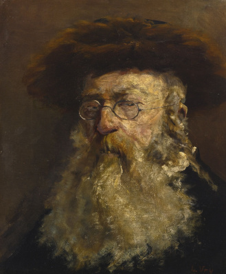 Lesser Ury. Portrait Of A Rabbi