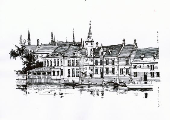 Sergey Vyacheslavovich Kravchenko. Hotel Duc de Bourgogne. Bruges