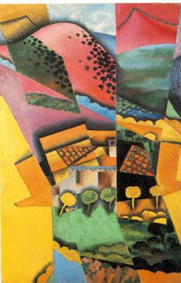 Хуан Грис. Пейзаж в Сере