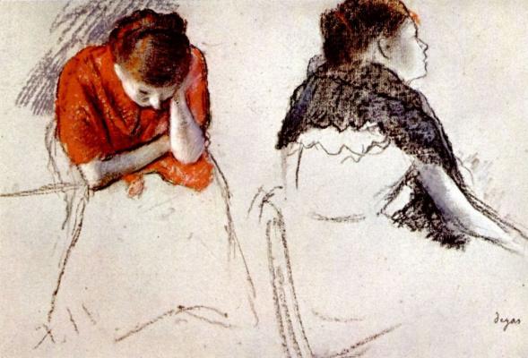 Edgar Degas. Two seated women