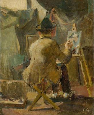 Cuno Amiè. Portrait Of Giovanni Giacometti