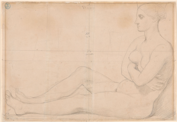 Jean Auguste Dominique Ingres. The naked woman