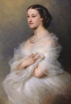 Franz Xaver Winterhalter. The Duchess Of Alba. Fragment