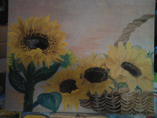 Irina Petrovna Kurako. Sunflowers