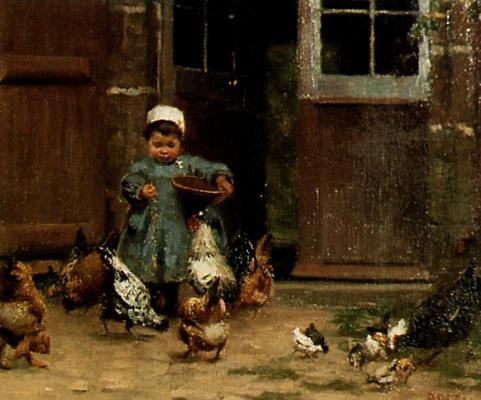 Пол Пил. Кормление домашней птицы