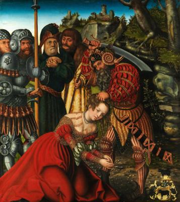 Lucas Cranach the Elder. The martyrdom of St. Barbara