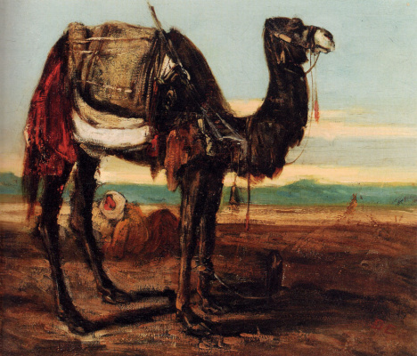 Александр-Габриэль Декампс. Бедуин и верблюд