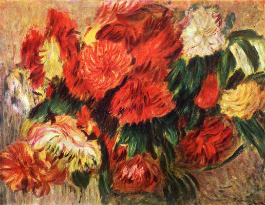 Pierre-Auguste Renoir. Still life with chrysanthemums