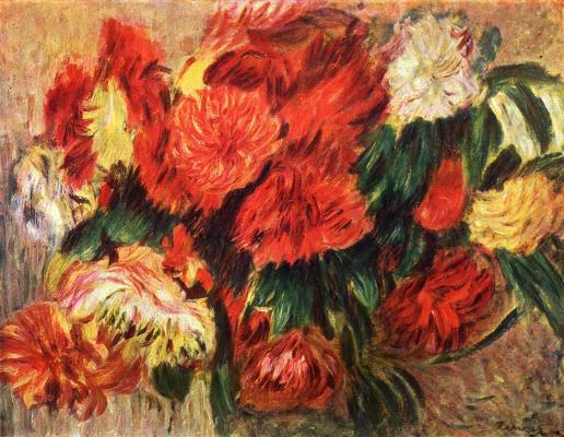 Pierre-Auguste Renoir. Still life with chrysanthemums