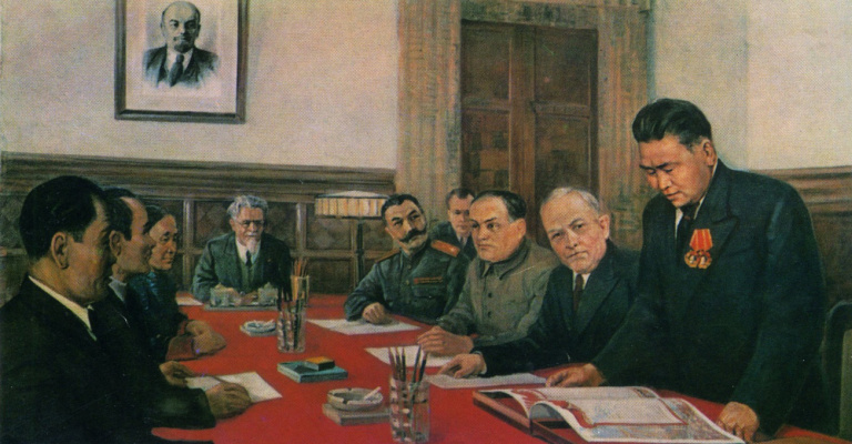 Vasily Fadeevich Demin. The meeting of the Presidium of the Supreme Soviet of the USSR in connection with the entry of Tuva into the Soviet Union