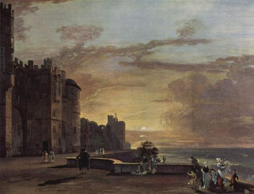 Пауль Сэндби. Виндзорский замок, вид северной терассы