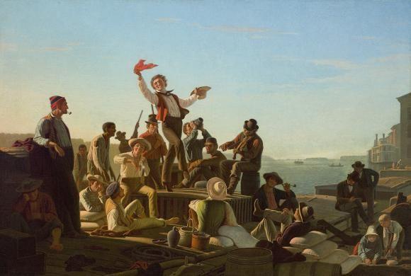 Джордж Калеб Бингем. Весёлые лодочники в порту