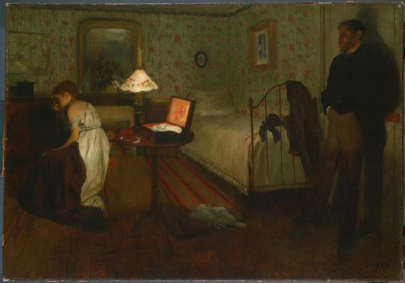 Edgar Degas. Interior (Violence, Rape)