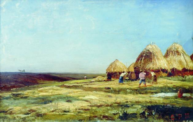 Alexey Petrovich Bogolyubov. Ablyazova. Threshing. 1887