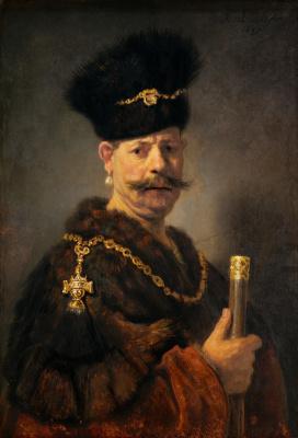 Rembrandt Harmenszoon van Rijn. Portrait of a Polish nobleman