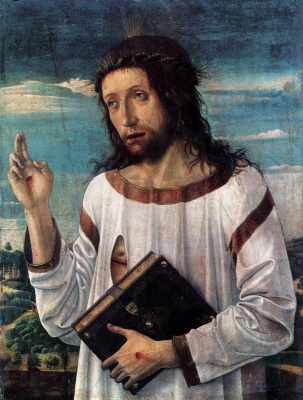 Giovanni Bellini. Blessing Christ