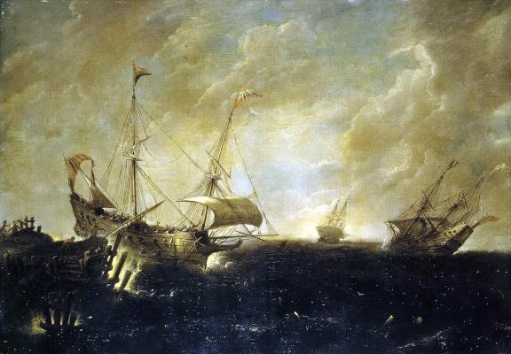 Андрис ван Эртфельт. Буря на море