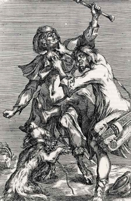 Jacques Bellange. A fight between two beggars