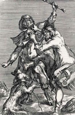 Жак Белланж. Драка двух нищих