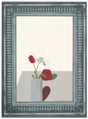 David Hockney. Silver frame still life