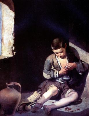 Bartolomé Esteban Murillo. The little beggar (Lousy)