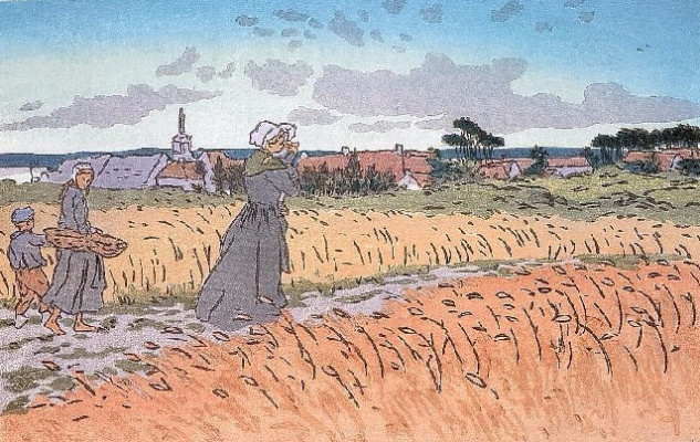 Анри (Henri) Ривьер (Rivière). Город Перрос-Гирек (Le bourg de Perros guirec)