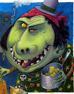 Jack Davis. Green monster
