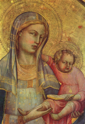 Лоренцо Монако. Мадонна, деталь