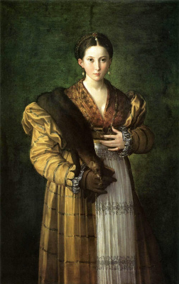 "Francesco Parmigianino. Portrait of a young lady, called ""Anthea"""