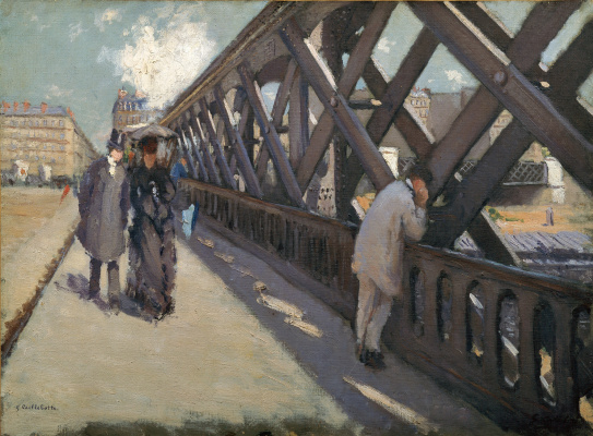 Gustave Caillebotte. The Bridge Of Europe. Sketch