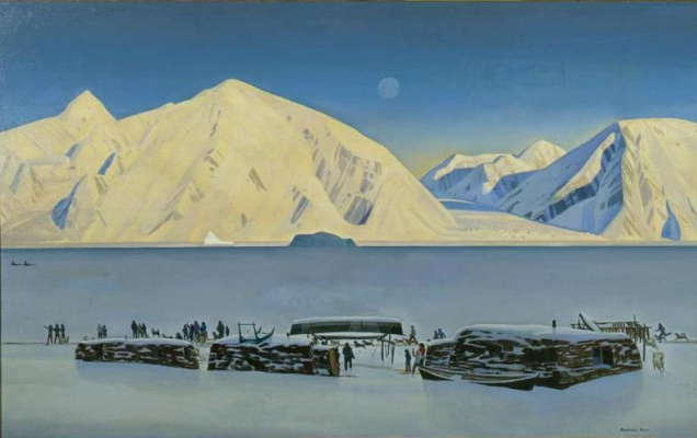 Rockwell Kent. The Arrival of mail
