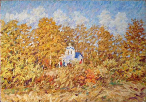 Urii Parchaikin. Autumn . chapel