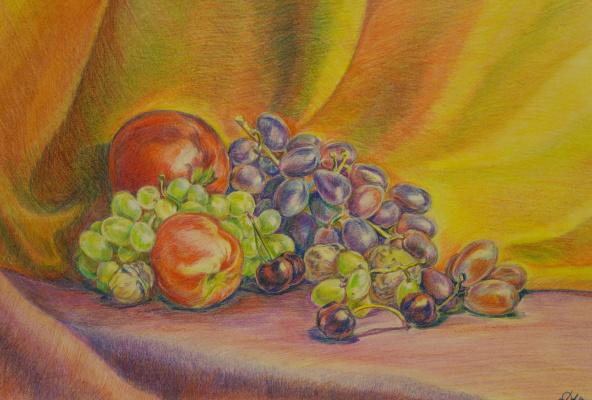 Irina Viktorovna Korotoyakskaya (Dronova). Still life with cherries