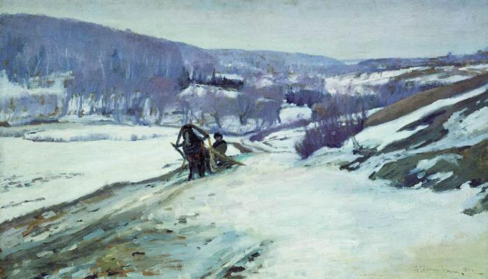 Алексей Степанович Степанов (1780-1887). Зимний пейзаж. 1910