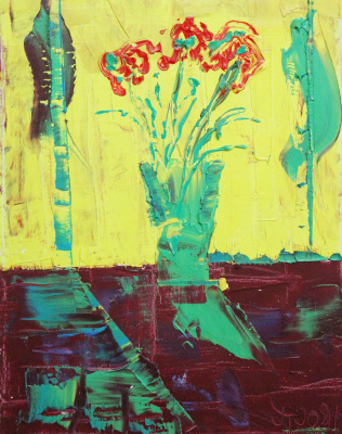 Oleg Troyan. Flowers on yellow