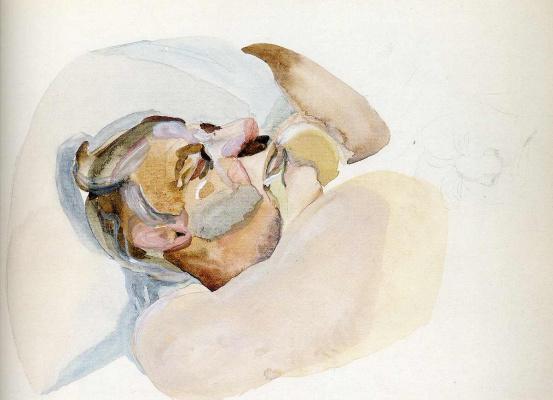 Lucien Freud. Sleeping man