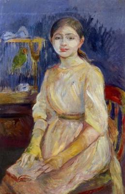 Berthe Morisot. Julie Manet with a parrot