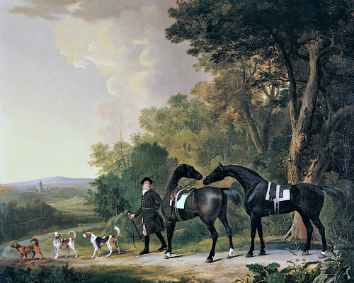 George Stubbs. Horse before the hunt