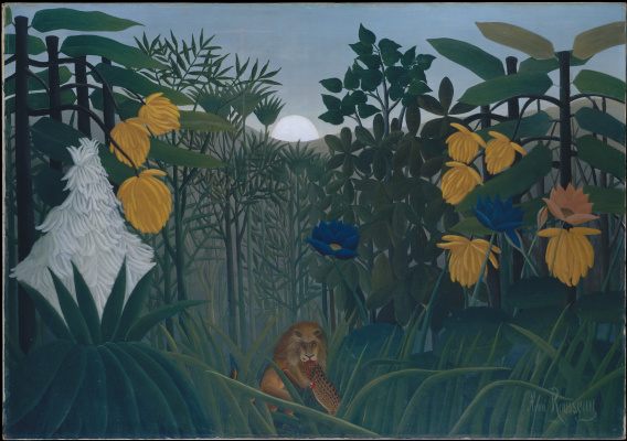Henri Rousseau. Repast of the lion