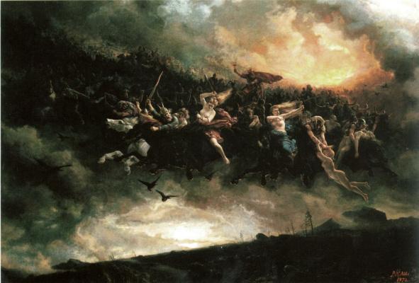 """Peter Nikolay Arbo. """"Odin's Wild Hunt"""""""