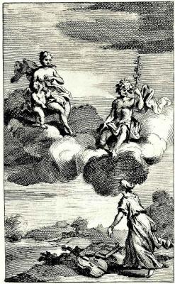 William Hogarth. In the clouds