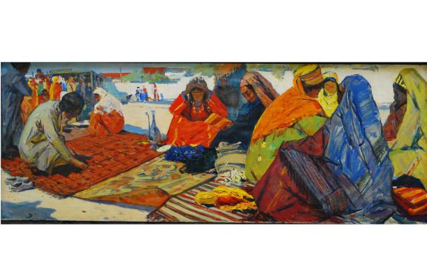 Аман Амангельдыев. Старый базар