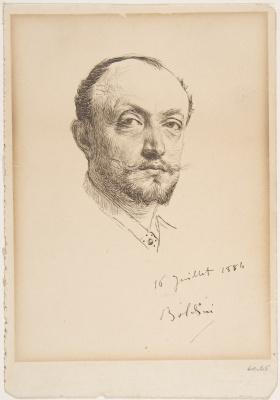 Giovanni Boldini. Portrait of the artist