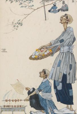 Иванов Павел Петрович (Paul Mak). Уличные торговцы. 1924