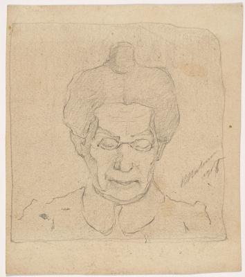 Kazimir Malevich. Female portrait (Portrait of a mother?)