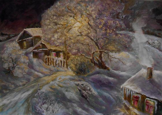 Владимир Иванович Осипов. Winter night, 65-45, © 2018