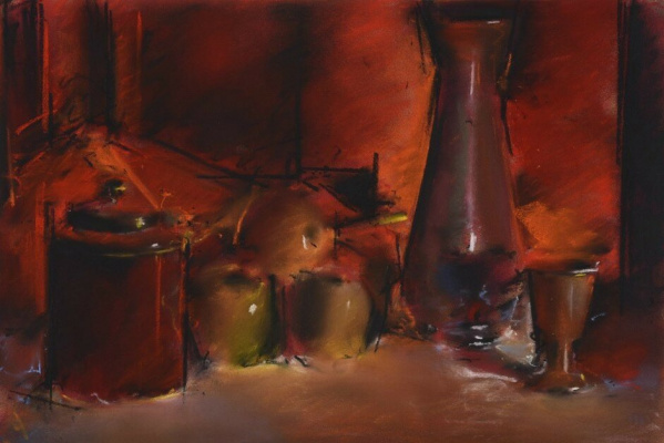 (no name). Still life with apples