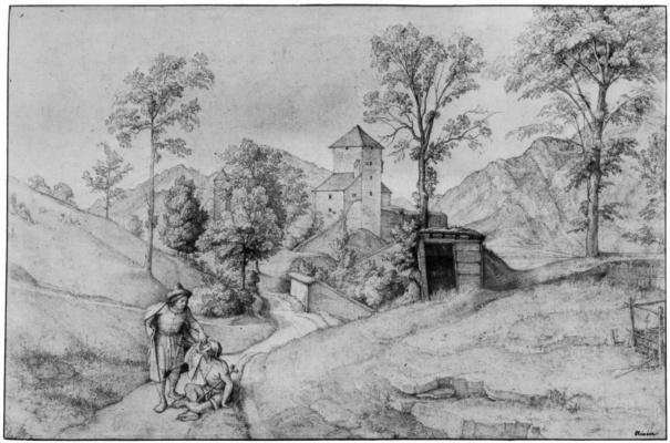 Фердинанд Оливье. Тропинка на Монашескую гору близ Зальцбурга