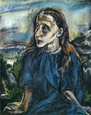 Oskar Kokoschka. Portrait of a girl