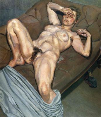Lucien Freud. Portrait of rose
